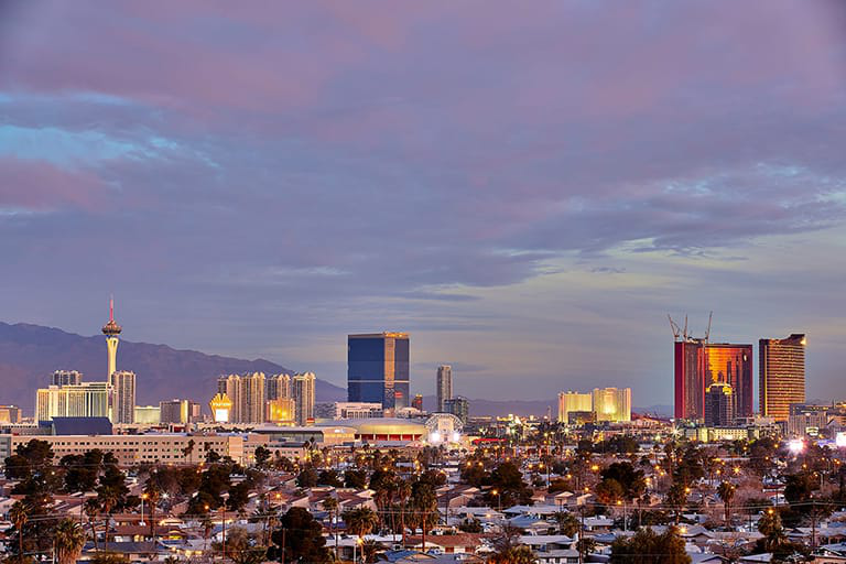 View of Campus with Las Vegas Strip in the background