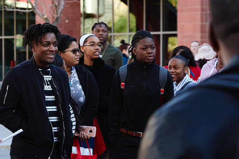 Group of Black students